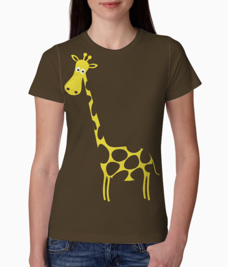 Brown giraffe tee front