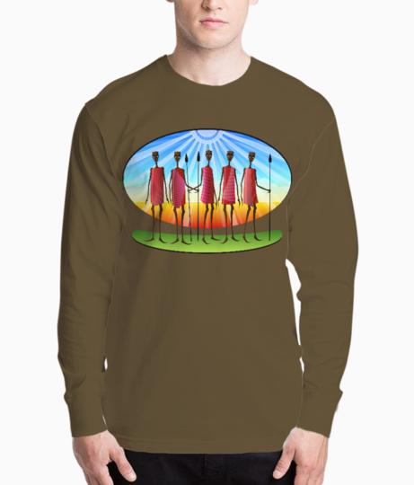 African tribal henley front