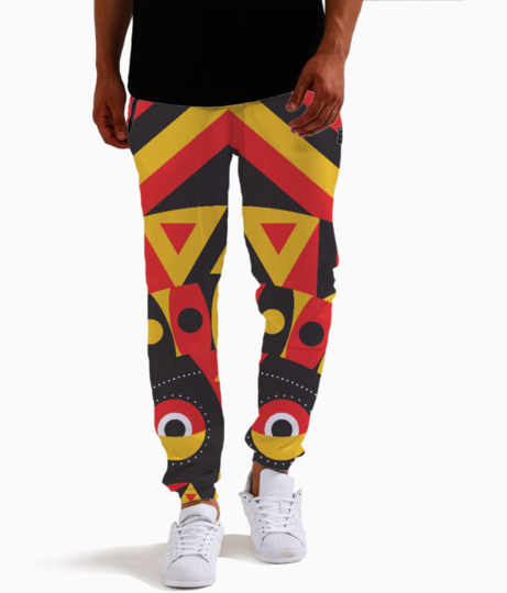 Aboriginal mask joggers front
