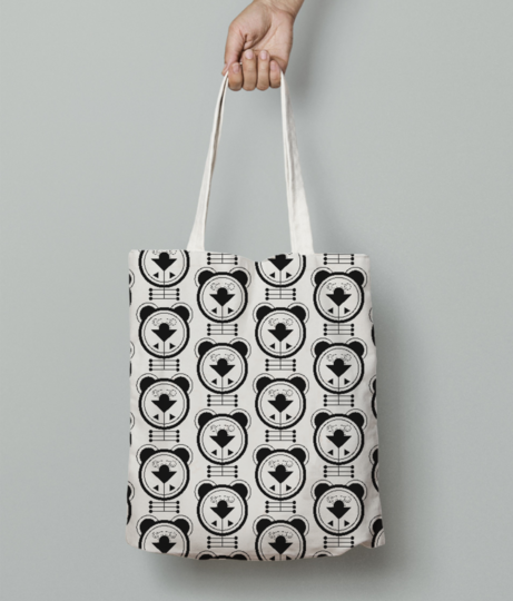 Puppy dog tote bag front