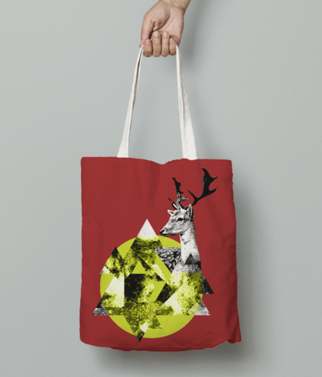 Abstract deer4 tote bag front