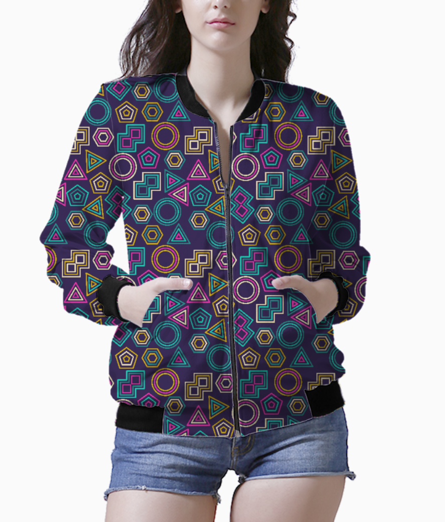 72cd68211b2d33 ABSTRACT TRIBAL PATTERN WOMEN S PRINTED BOMBER ...