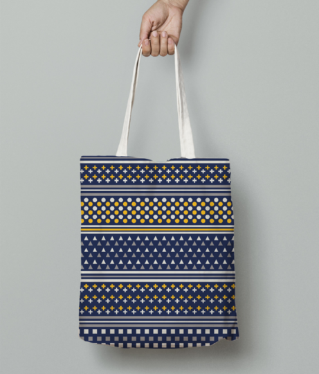 Kapa pattern tote bag front