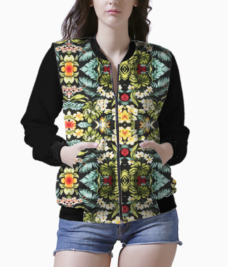 Tropical floral bomber front