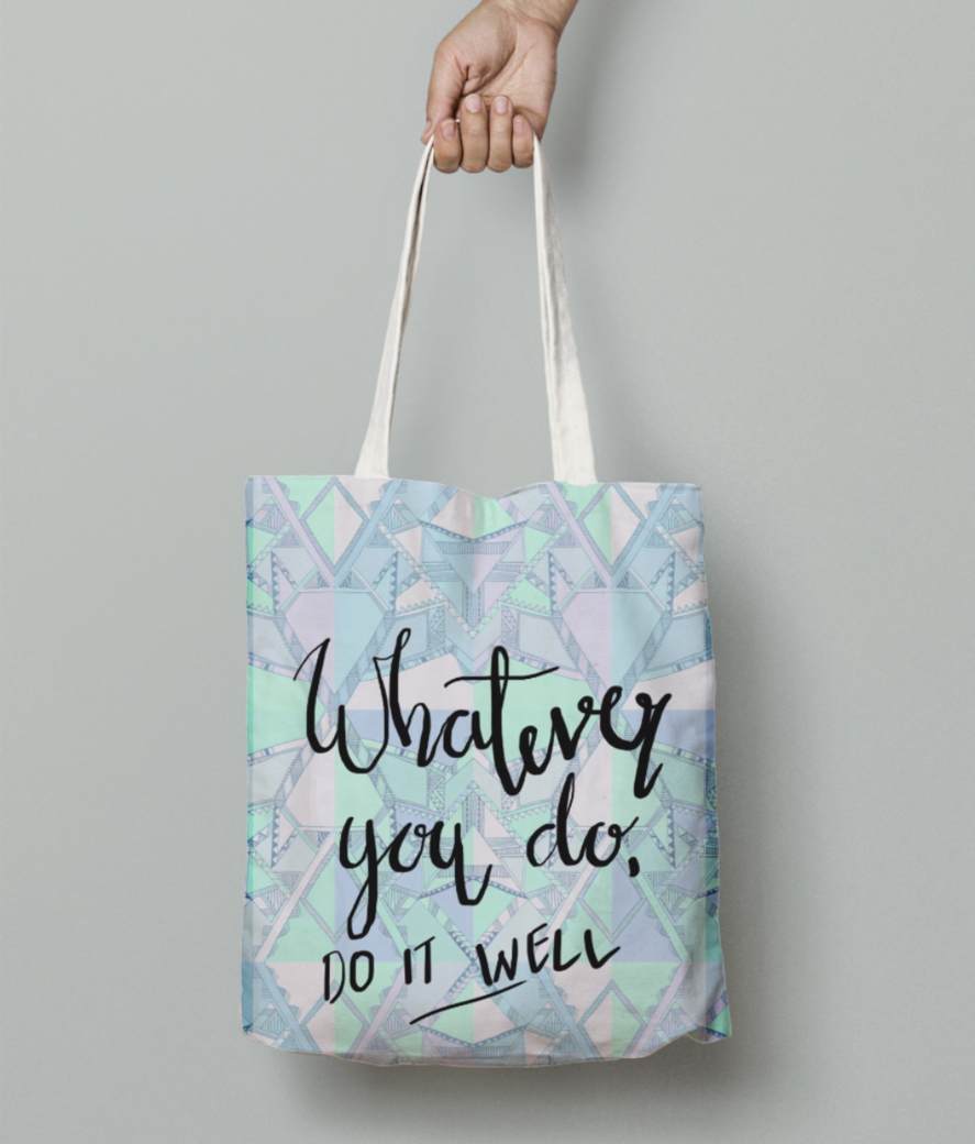 Do it well tote bag front