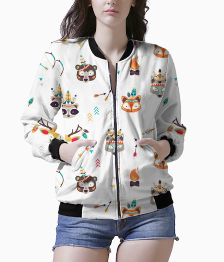 Quirky tribe bomber front