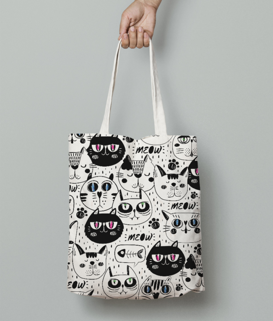 Meow 1 tote bag front