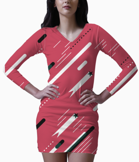 Pink love bodycon dress front