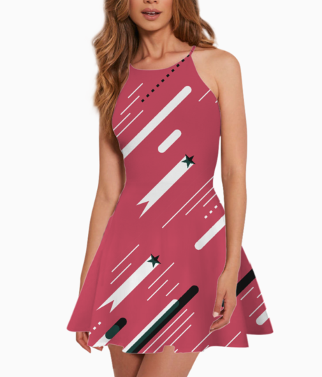 Pink love summer dress front