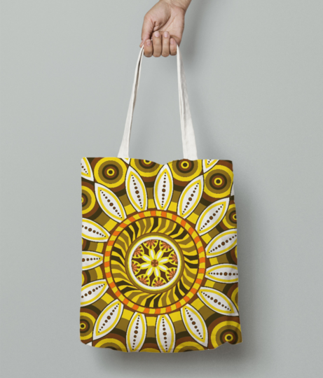 Flower tote bag front