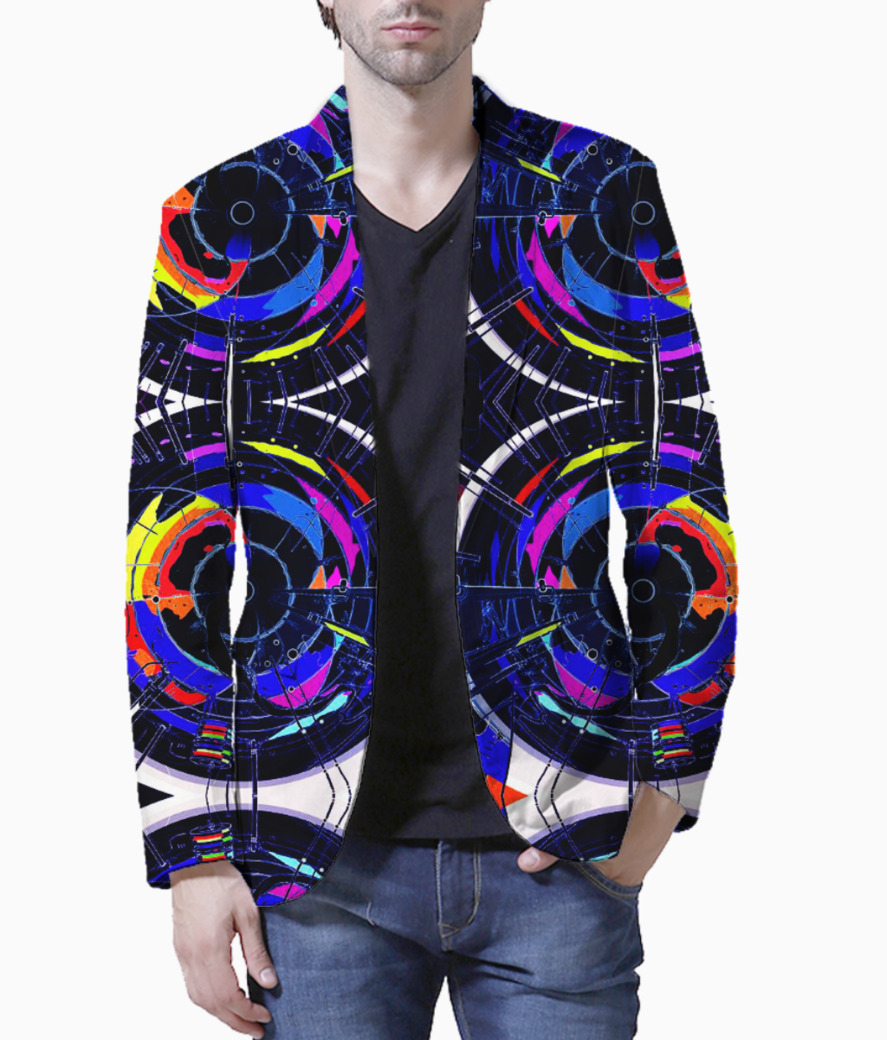 Abstract hybrid blazer front