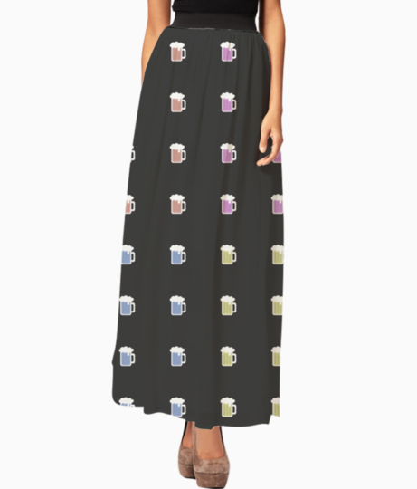 Beer long skirt front