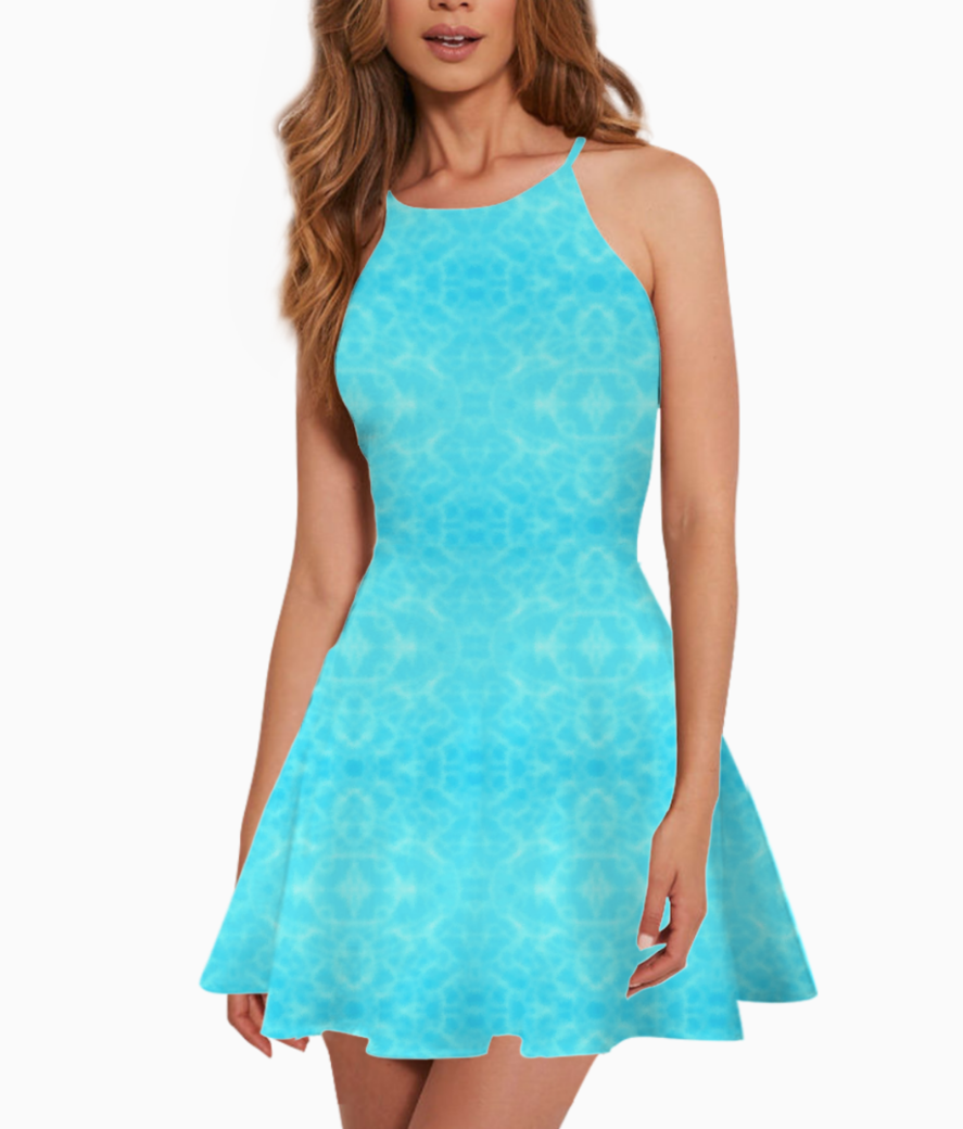 Pool water summer dress front