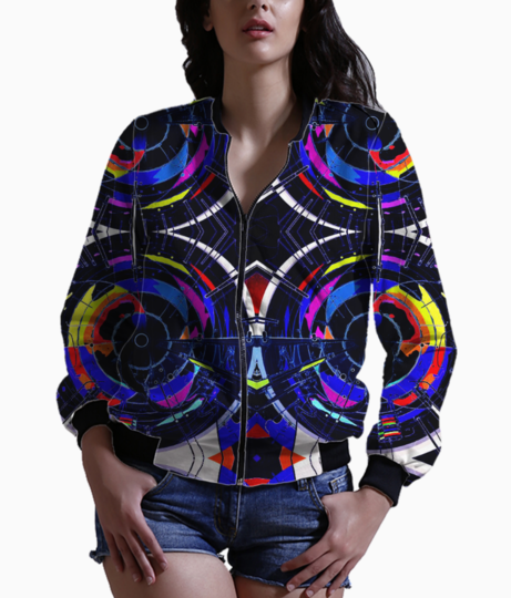 Abstract hybrid bomber front