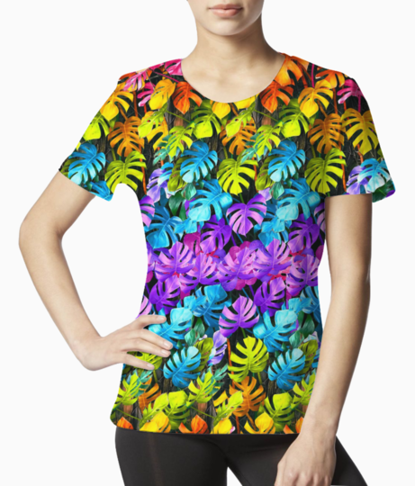 Rainbow leaves 2 tee front