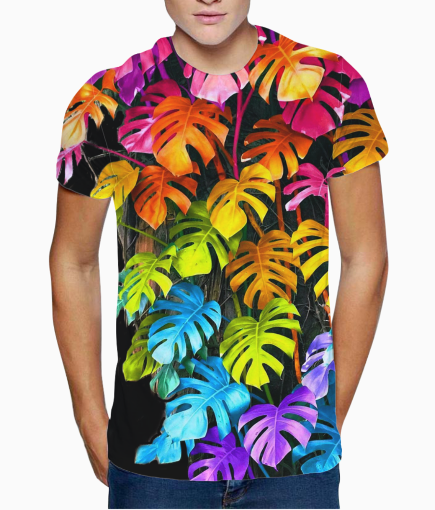 Rainbow leaves t shirt front