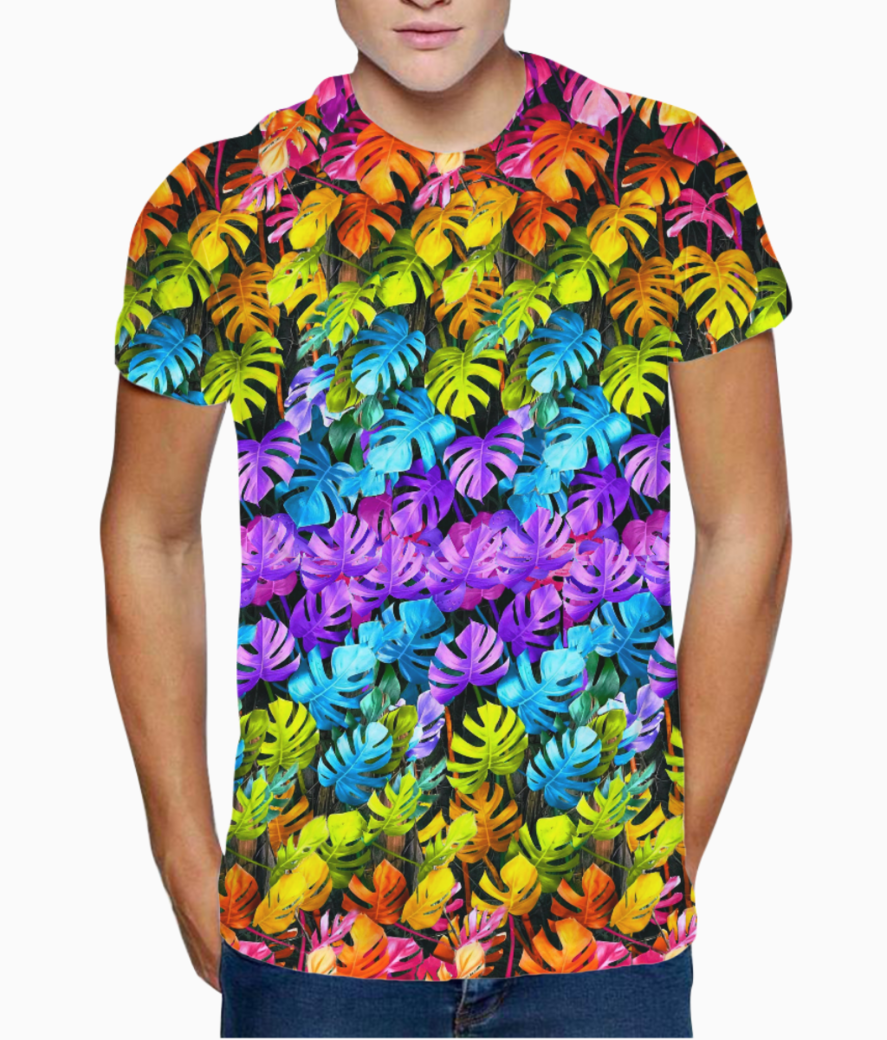 Rainbow leaves 2 t shirt front