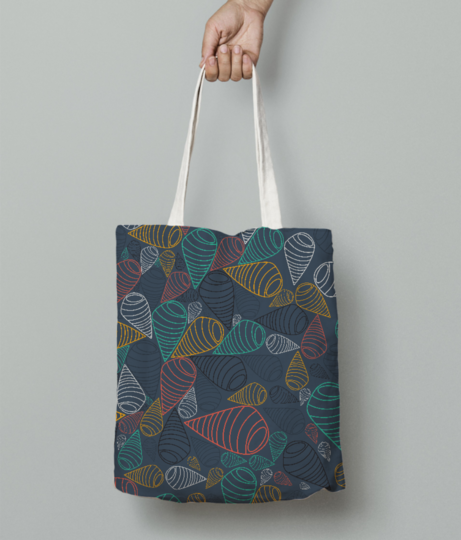 Swirl tote bag front
