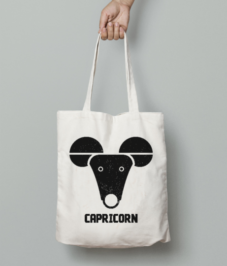 Capricorn tote bag front