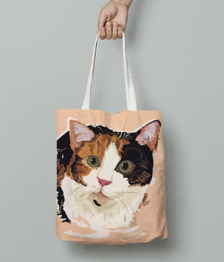 Cat tote bag front