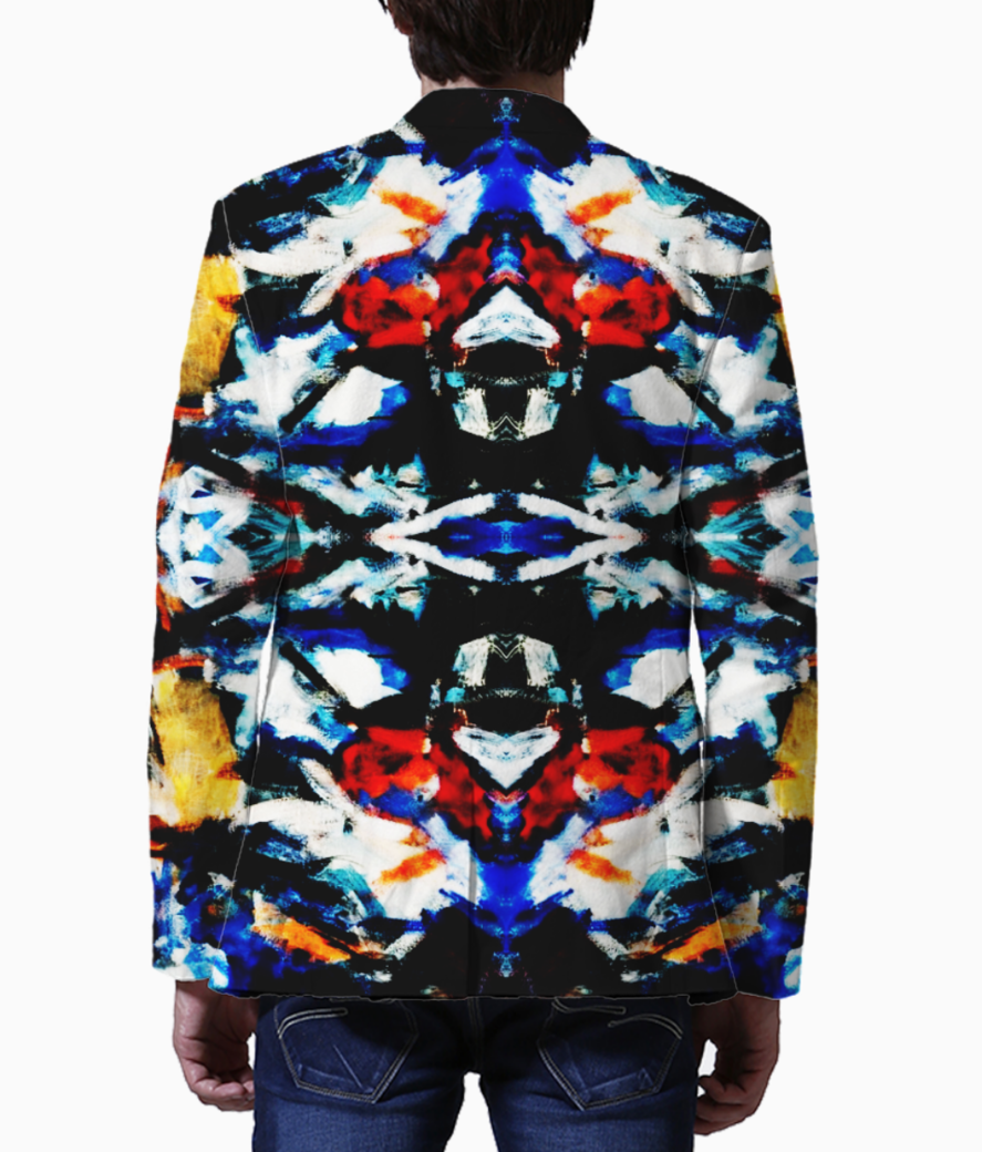 Abstract art blazer back