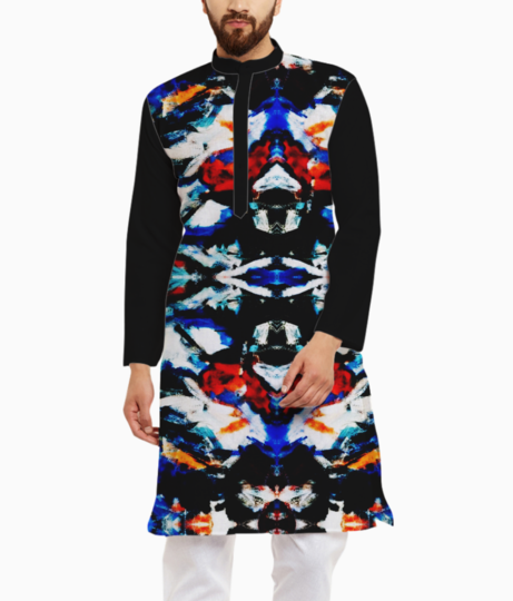 Abstract art kurta front