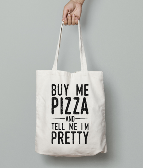 Pizza tote bag front