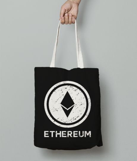 Ethereum sign tote bag front