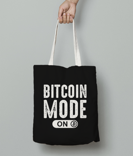 Bitcoin mode on tote bag front