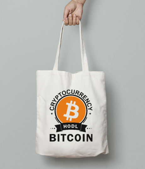Cryptocurrency tote bag front