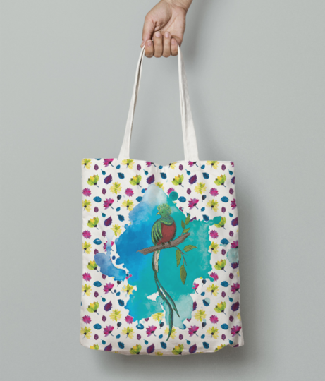 Bird of paradise tote bag front