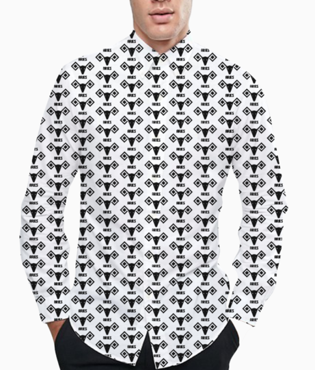 Aries pattern basic shirt front