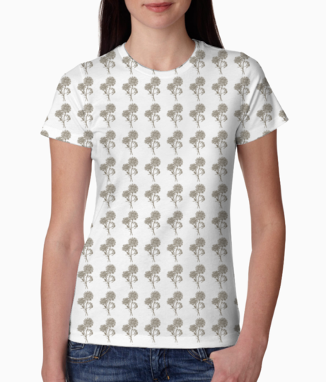 Flowers tee front