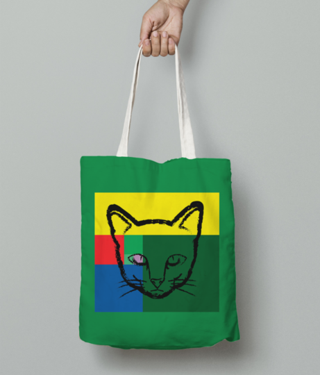Pop cat1 tote bag front