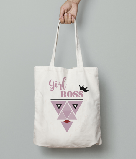 Girlboss tote bag front
