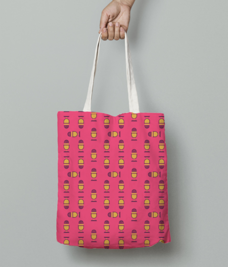 Microphone tote bag front