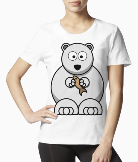 White bear cousin tee front