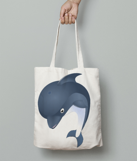 Dolphin tote bag front