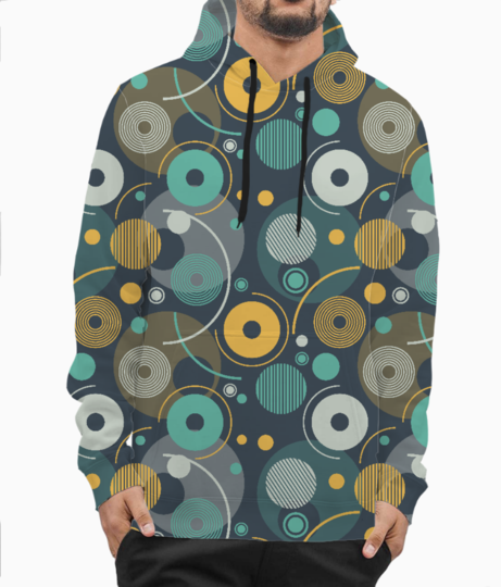 Rounded shapes hoodie front