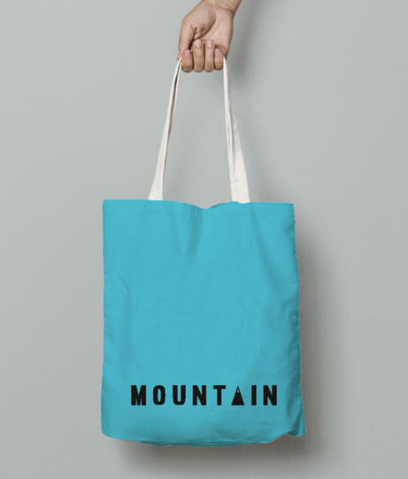 Mountain tote bag front