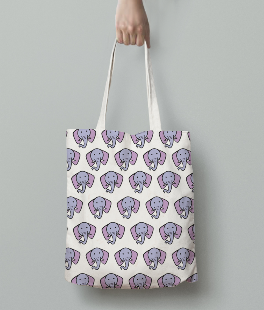 Elephant tote bag back