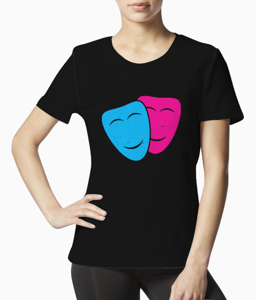 Theatre mask tee front