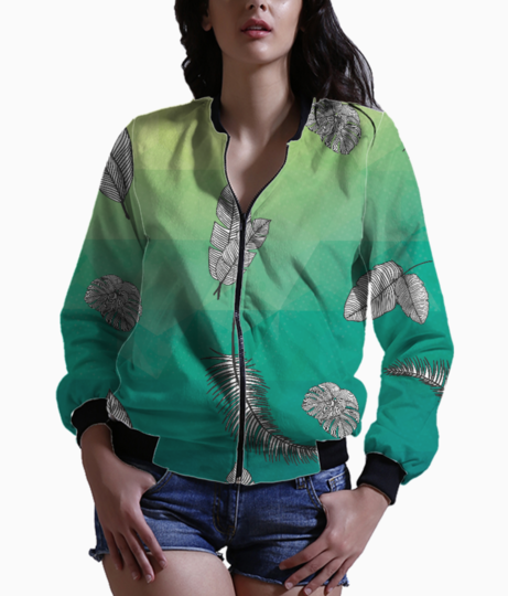 Tropical greens bomber front
