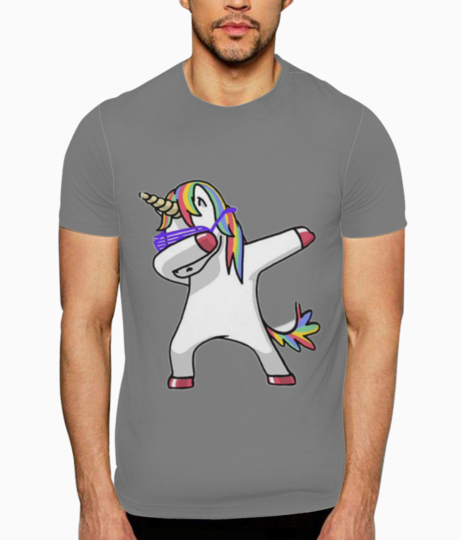 Unicorn dab t shirt front