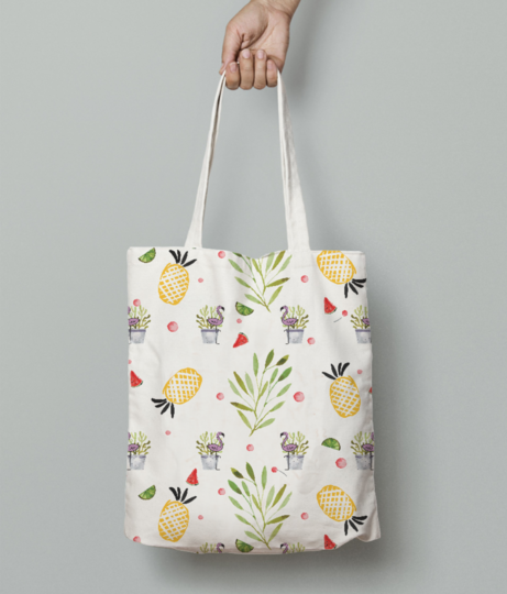 Fresh like spring clear tote bag front