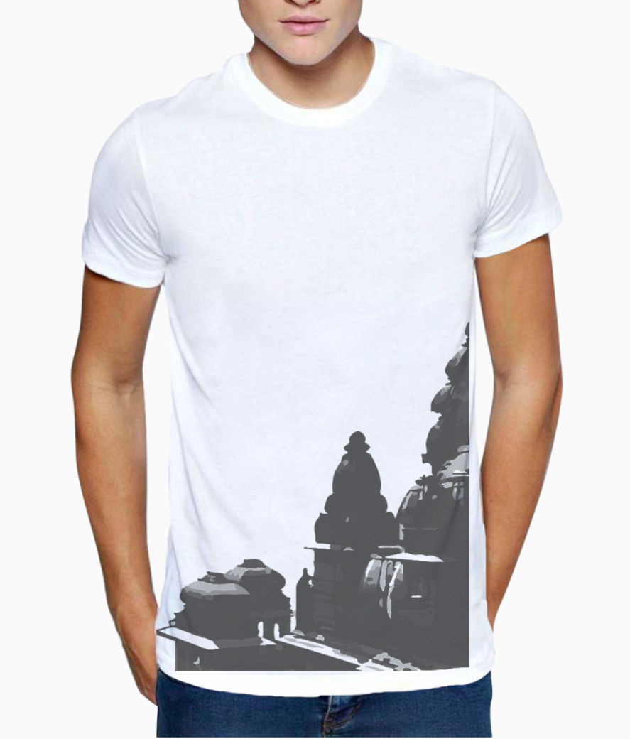 e3709479adccd TEMPLE SKETCH PRINT MEN'S PRINTED T-SHIRT | REDESYN