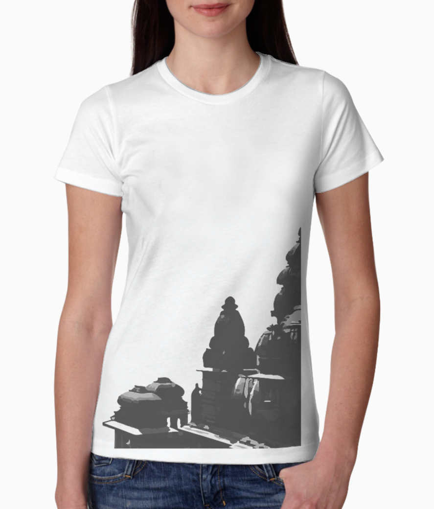 Architecture temple tee front