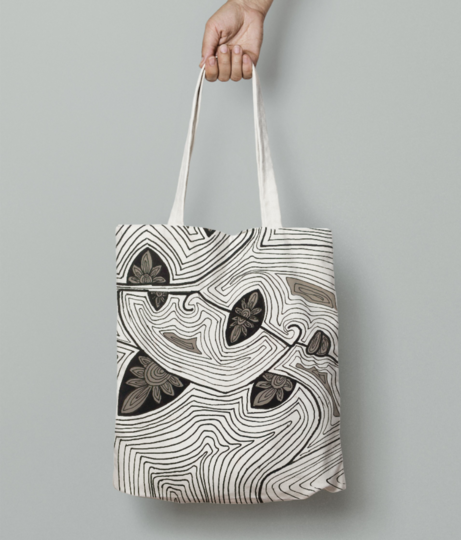Teeming tote bag front