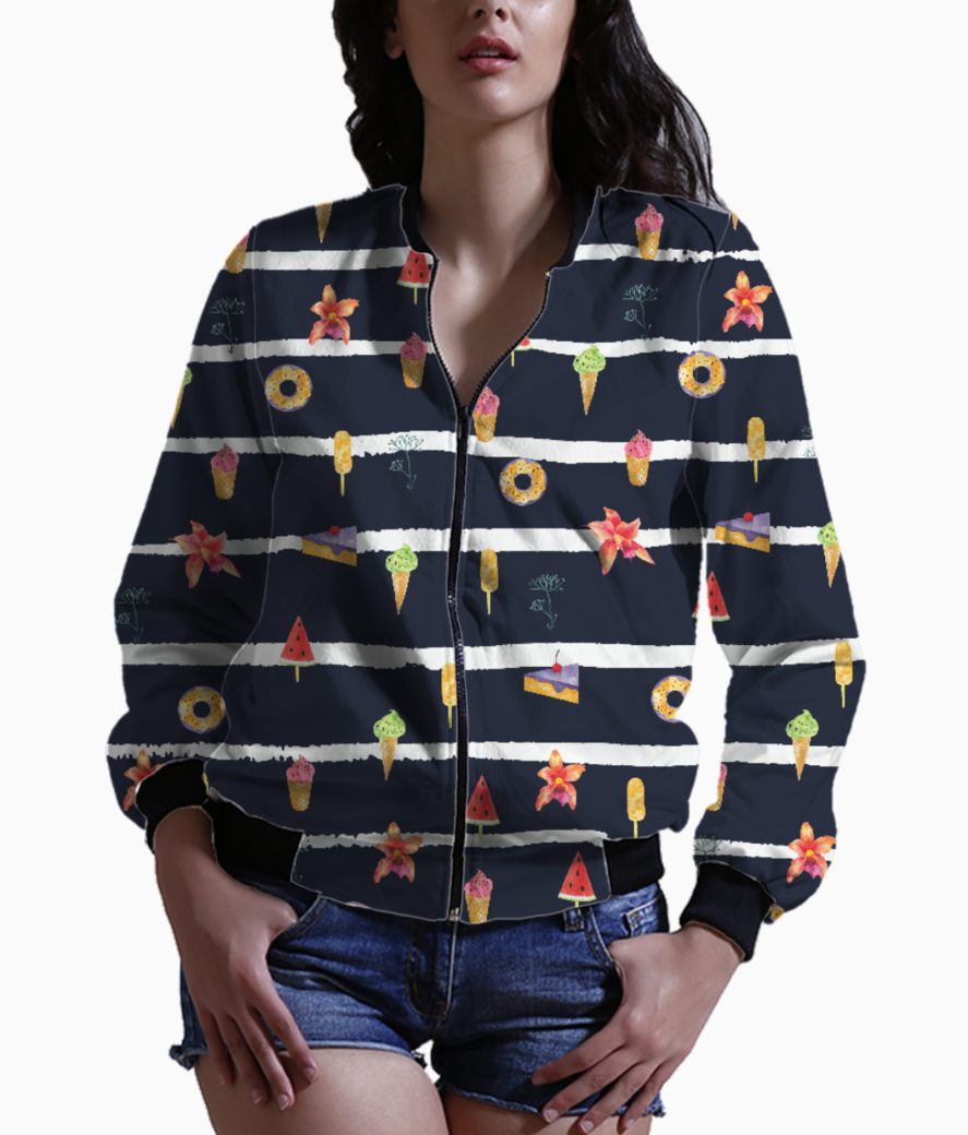 French summer negetive bomber front