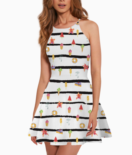 French summer summer dress front